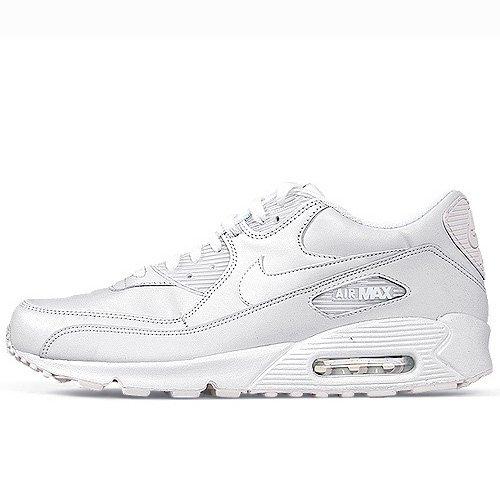 NIKE Men's Air Max 90 Leather Running Shoe True White/True White outlet popular cheap sale supply footlocker online ktmDT