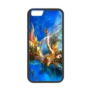 iPhone 6 4.7 Inch Phone Case Covers Black Anime Mermaid ESU Phone Cases Custom
