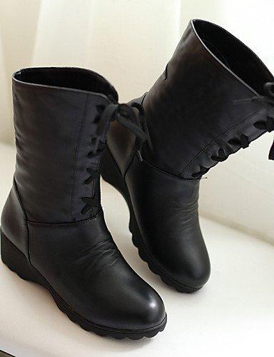 Trabajo A Semicuero Plataforma Cn38 us8 5 negro Vestido De Moda Beige us7 Cn39 Eu38 Eu39 Xzz Comfort Exterior Zapatos Brown Oficina Mujer Botas La 5 Uk5 Y Uk6 Casual fZYSt7wq