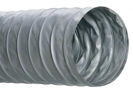 Hi-Tech Duravent SLP-10 Series PVC Fiberglass SLP-10 Series Air/HVAC Duct  Hose, Gray