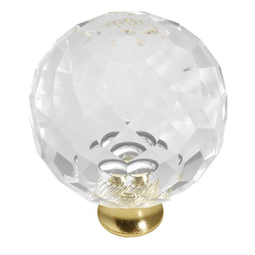 Crystal Palace P40-CA3 Acrilic and Brass 40mm Knob (Crystal Ca3)