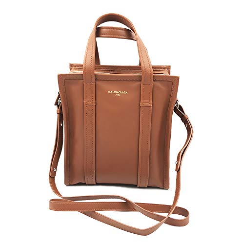 (Balenciaga Bazar Shopper XS Size Tan Leather Messenger Ladies Bag)