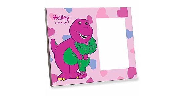 Amazon.com: Personalized Barney Heart Picture Frame: Kitchen & Dining