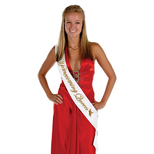 Beistle 60194 Homecoming Queen Satin Sash, 33