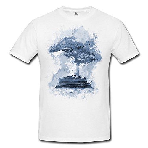 Bonsai Herren T- Shirt , Stylisch aus Paul Sinus Aquarell Cyan