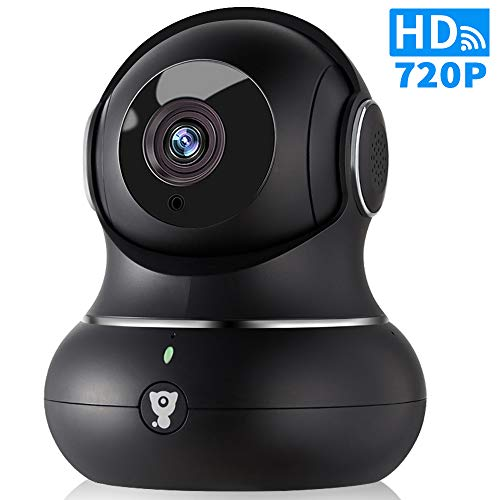 (720P WiFi IP Indoor Home Camera - Littlelf Panoramic Security Wireless Pet Camera, Baby Monitor with 2-Way Audio, Night Vision, Remote with iOS & Android App, TF Card or Cloud Storage)