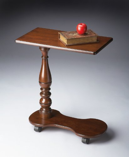 Kensington Row Furniture Collection Tables - Bayview Tray Table - Portable Table on Casters - Cherry (Kensington Cherry Desk)