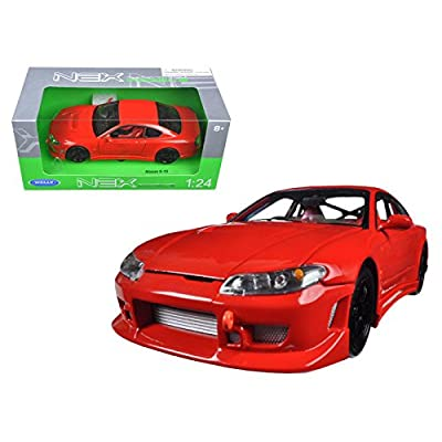 Welly Nissan Silvia S-15 1/24 Scale Diecast Model Car Red: Toys & Games