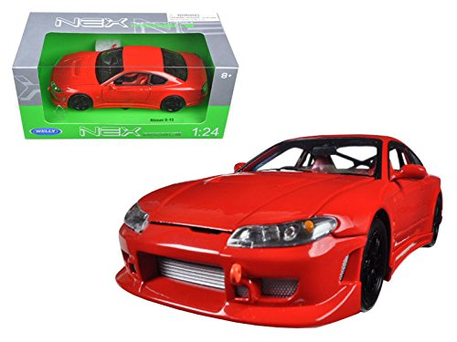 Welly Nissan Silvia S-15 1/24 Scale Diecast Model Car Red (Nissan S15 Silvia)