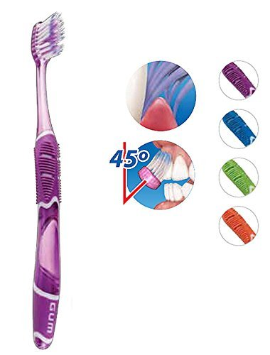 GUM 524 Technique Deep Clean Toothbrush - Full Soft Head (6 Pack) by Sunstar by U.A.A. INC.