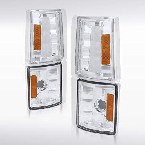 Autozensation For GMC C/K C10 Sierra Pickup Chrome Clear Front Corner Signal Lights