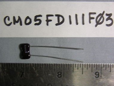 20 CD CM05 110pF 1% 500 Volts Dipped Mica Capacitor