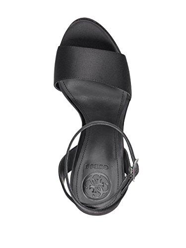 Satin Women's Platform Satin Empress Black GUESS Heels F4wRqwZ