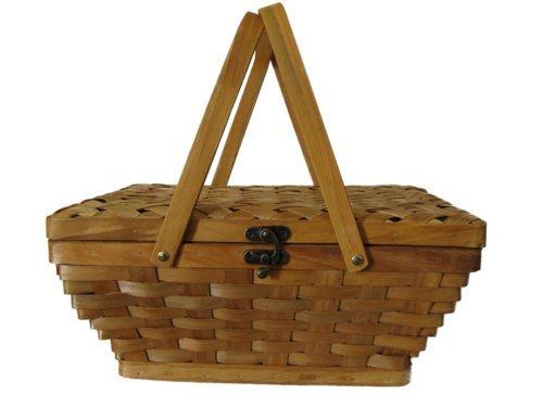 Wald imports 14-inch woodchip picnic basket