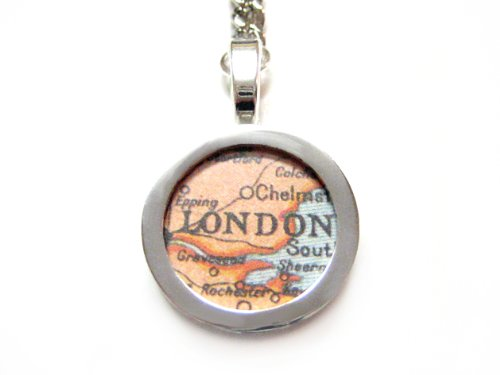 London Map Key Chain