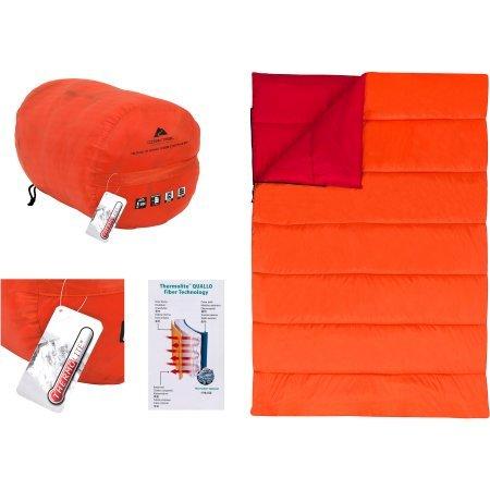 Ozark Trail 20 - 30 F Thermolite quallo manta doble saco de dormir con bolsa de, rojo/naranja: Amazon.es: Electrónica