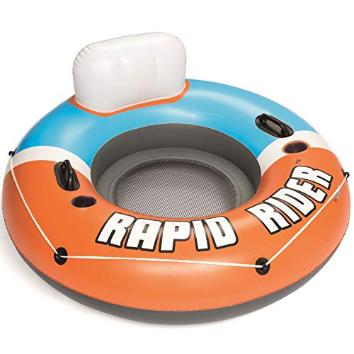 Bestway CoolerZ Single Person Rapid Rider Inflatable River Lake Pool Tube Float (Tube Inflatable)