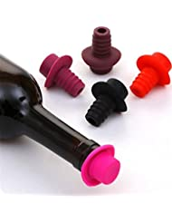 SNNplapla Silicone Reusable Champagne & Wine-Bottle Caps Stoppers Corks Savers Sealers Plugger FDA Food Grade 1 Pc Color Randomly send