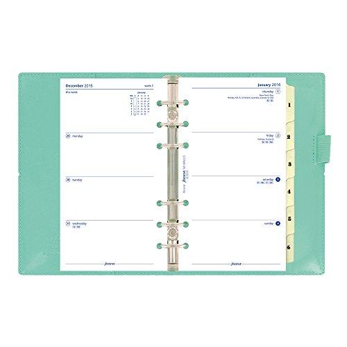 filofax 2016 personal organizer domino patent turquoise