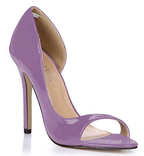 nouvelle rouge femmes côté annuelle célibataires femmes l'chaussures chaussures poisson Light Les vide perle grande haut de astuce talon à session Pearl boîtes de Violet des AEdZxCnUwq