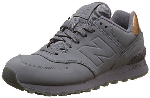 New Balance Dames 574 Gesmolten Metalen Pack Fashion Sneaker Gunmetal