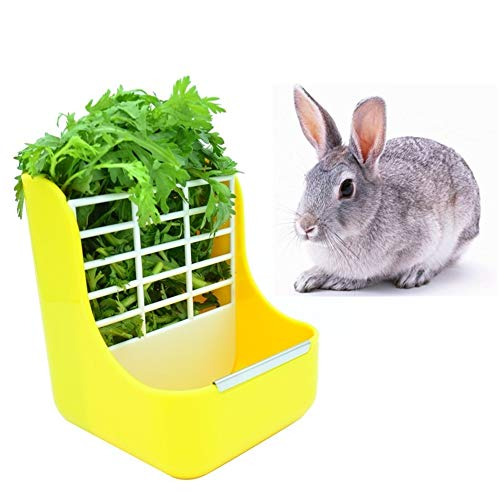 - sxbest Rabbit Feeders Hay Food Bin Feeder,Food Hay Feeder for Guinea Pig,Rabbit,Indoor Hay Feeder for Guinea Pig,Rabbit, Chinchilla,Feeder Bowls Use for Grass & Food
