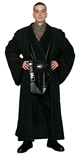 Jedi-Robe Men's Star Wars Anakin Skywalker Tunic Set And Robe X-Large Black (Anakin Skywalker Robe)