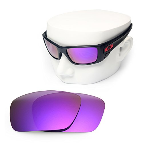 OOWLIT Replacement Sunglass Lenses for Oakley Fuel Cell Purple Mirror - Fuel Oakley Lenses Mirrored Cell