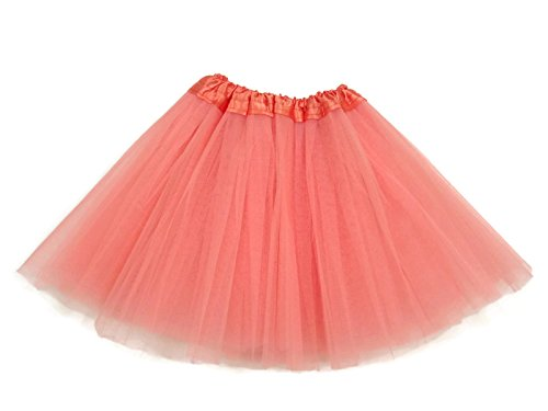 Rush Dance Ballerina Girls Dress-Up Princess Fairy Costume Recital Tutu (Kids 3-8 Years, Peach) (Princess Peach Costume Toddler)