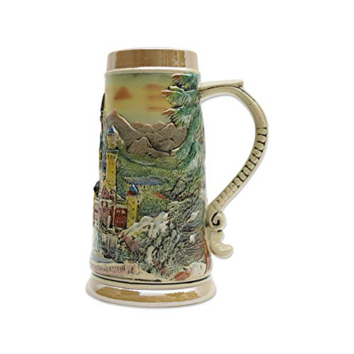 - Beer Stein Engraved Ludwig Castle Beer Mug by E.H.G. | 1.1 Liter