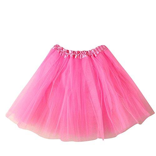 SaiDeng Mini Tutú Enaguas Multicapa De Volantes Frilly De Ballet ...