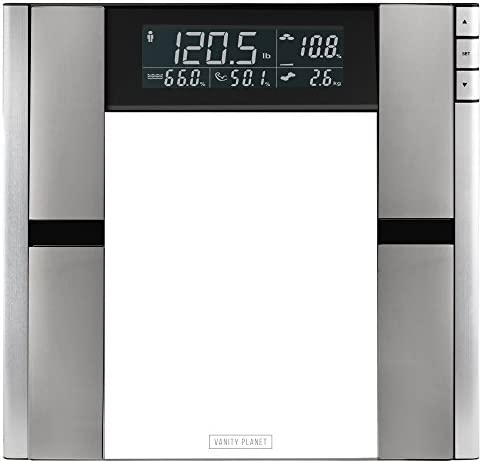Vanity Planet Work It Digital Scale and Body Analyzer – Tracks Body Fat, Weight, Muscle Bone Mass, Water Weight – 330 Pound Capacity
