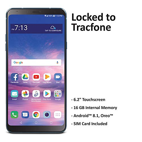 TracFone Carrier-Locked LG Stylo 4 4G LTE Prepaid Smartphone - Black - 16GB - Sim Card Included - CDMA