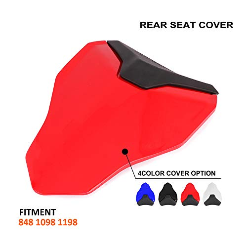 Motorcycle Red Rear Seat Cowl Passenger Pillion Fairing Tail Cover For Ducati 848 1098 1198 All Year