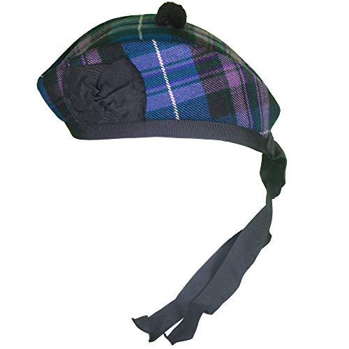 Scotland Tartan Ribbon - Scottish Traditional Blended Glengarry Hat - Upto 10 Designs Glengarry Hats (Pride of Scotland, 56cm - 7)