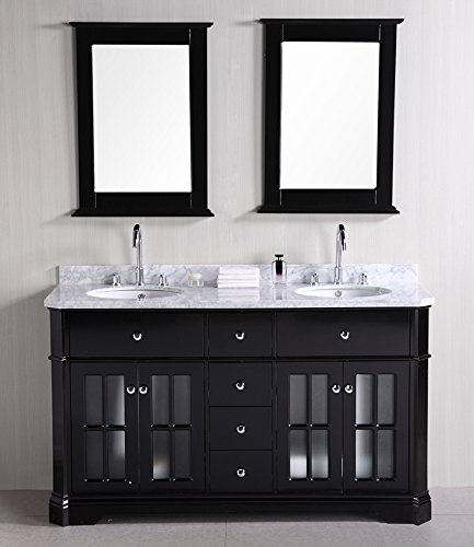 Design Element Imperial Double Sink Vanity Set, (Four Drawers Double Sink Vanity)