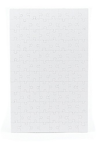 Hygloss Products Blank Jigsaw Puzzle – Compoz-A-Puzzle – 10 x 16 Inch - 96 Pieces, 4 Puzzles with -