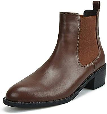 2d310ad3cc0 SASA Mujer Chelsea Martín Botas Tobillo Botas Casual Moda Negro marrón Bajo  Tacón Plano Zapatos