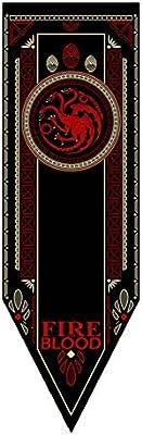 Harrms Game of Thrones Bandera Juego de Tronos Casa Tournament Wall Banner Flag Sigil 45*150cm House Bolton