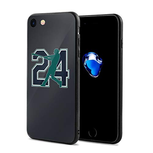 iPhone 8 Case Seattle Griffey The Kid Ultra-Thin Back Case Shock-Absorption Design Printed Pattern Silicone Bumper Cover for Apple iPhone 7/8