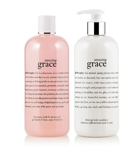 Philosophy Amazing Grace Bath Duo: Shampoo - Shower Gel & Firming Body Emulsion - 16 Oz Each by Philosophy