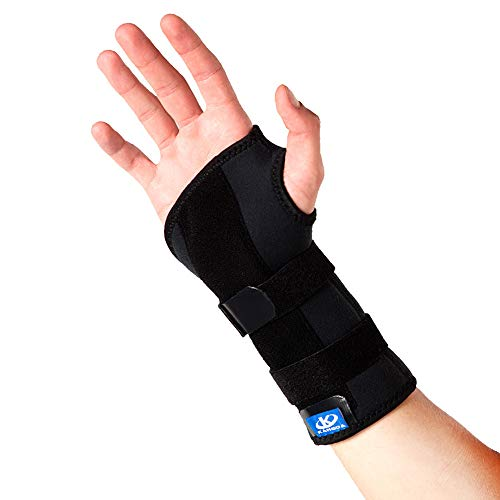 Kangda Wrist Brace Carpal Tunnel for Arthritis Tendonitis Sprain Immobilizer and Support Removable Splint Adjustable Both Hands Breathable Compression Kids Men and Women (L) ()