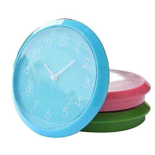 Magnetic Fridge Clock Mini Cute DIY Silent Sweep Clock for Home Kitchen(Color Rondom) (Magnetic Clock Wall)