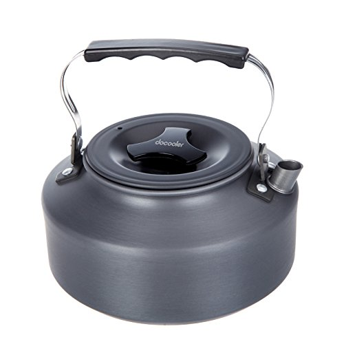 Price comparison product image Docooler 1.1L Portable Ultra-light Outdoor Hiking Camping Picnic Water Kettle Teapot Coffee Pot Anodised Aluminum