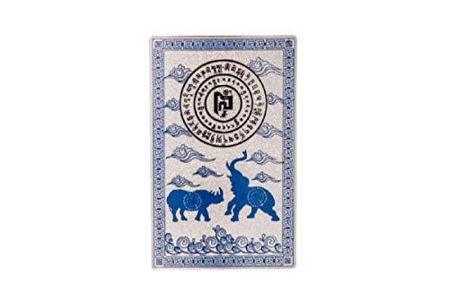 (DMtse Feng Shui Blue Rhino Elephant Anti Burglary Talisman Card)