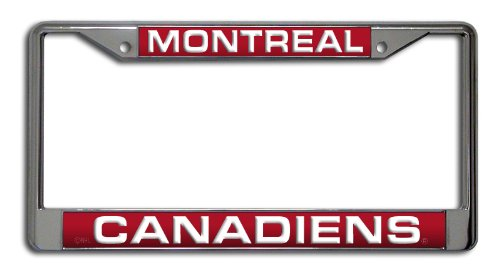 NHL Montreal Canadiens Laser Cut Chrome Plate Frame Rico Industries Inc. FCL8202