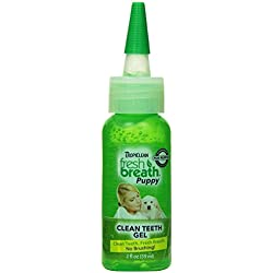 TropiClean Fresh Breath Puppy Clean Teeth Gel Oral Care for Pet Dogs 2oz.