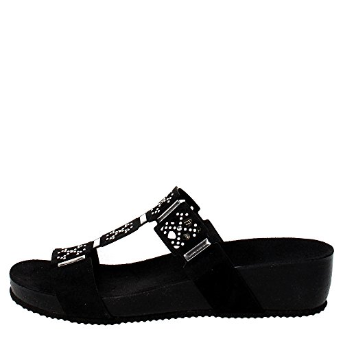 Grunland Nina cb0392, Slipper Sandal, Leather BLACK