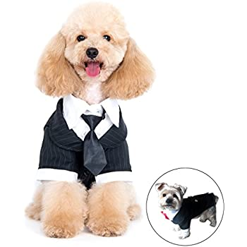 Kuoser Dog Shirt Puppy Pet Small Dog Clothes, Stylish Suit Bow Tie ...