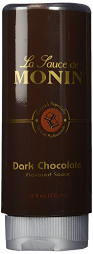 Monin Gourmet Dark Chocolate Sauce, 12 oz Squeeze Bottle